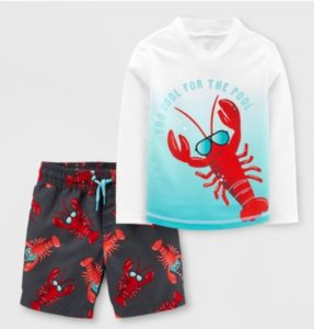 lobster target swim suits