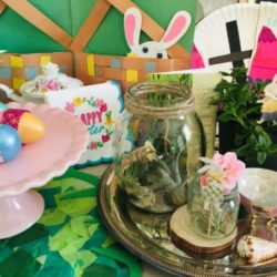 Easter Tablescape using Kid Crafts