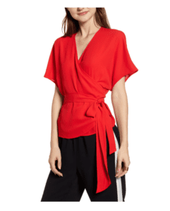 chelsea28 wrap style top red