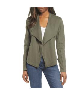 drape collar knit blazer