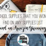 School Supplies That You Won't Find on Any Supplies List {and an Amazon Giveaway!}