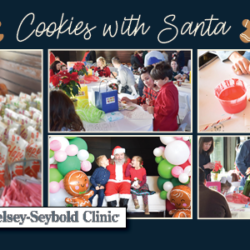 Cookies with Santa Giveaway Graphic