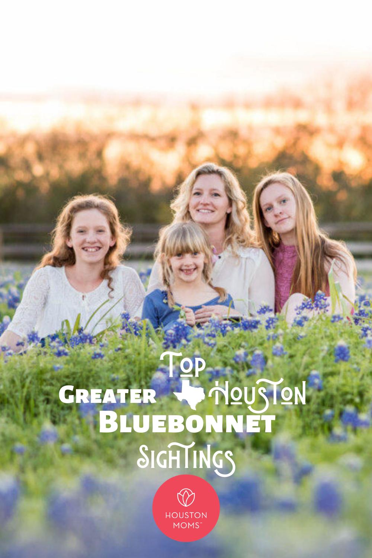 """Houston Moms """"Top Greater Houston Bluebonnet Sightings"""" #houstonmomsblog #momsaroundhouston"""
