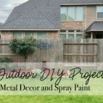 Outdoor DIY Project :: Metal Decor and Spray Paint