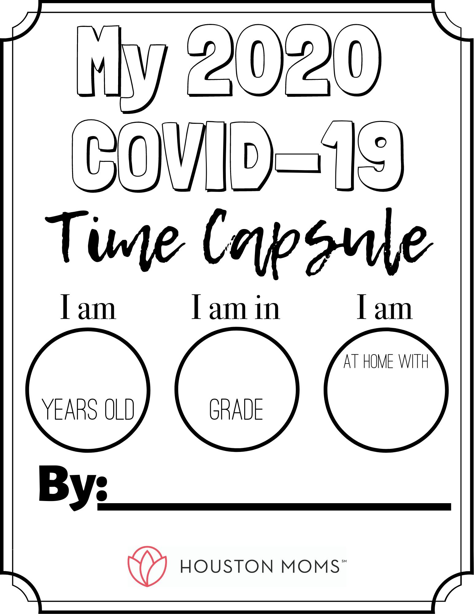 "Houston Mom ""My 2020 COVID-19 Time Capsule"" #houstonmoms #houstonmomsblog #momsaroundhouston"