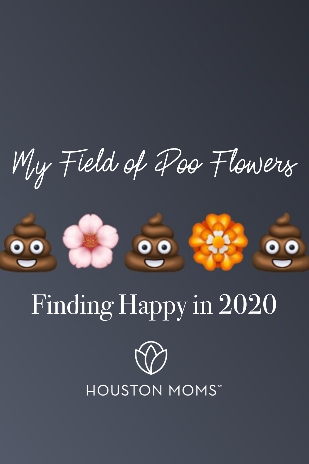 "Houston Moms ""My Field of Poo Flowers:: Finding Happy in 2020"" #houstonmoms #houstonmomsblog #momsaroundhouston"