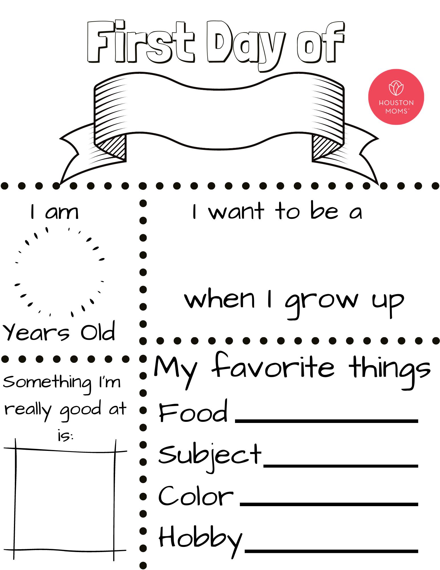 "Houston Mom ""First Day of School Sign"" #houstonmoms #houstonmomsblog #momsaroundhouston"