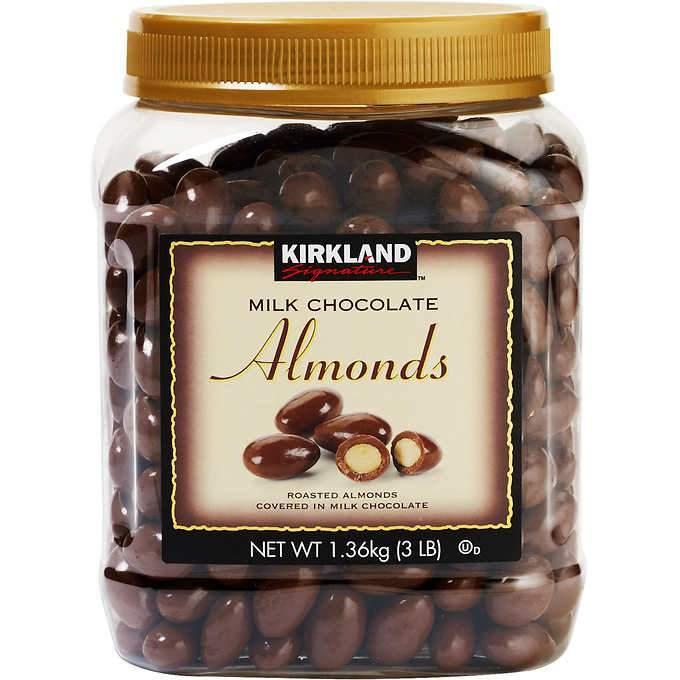 Kirkland chocolate covered almonds