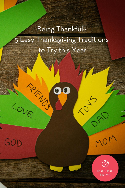 "Houston Moms ""Being Thankful:: 5 Easy Thanksgiving Traditions to Try this Year"" #houstonmomsblog #momsaroundhouston #houstonmoms"