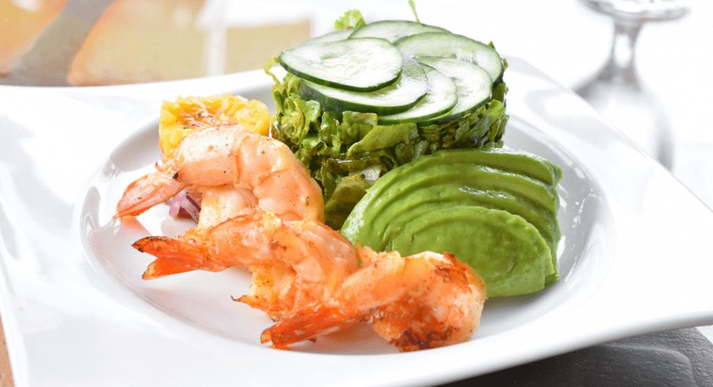 avocado cucumber shrimp appetizer